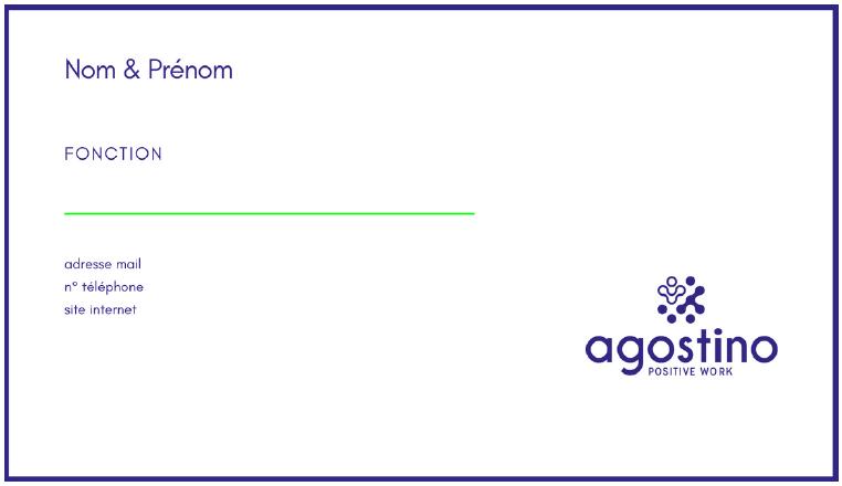 recto carte de visite Agostino Service +